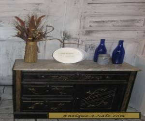 primitive antique Victorian Marble Top commode wash stand  dresser 1800s for Sale