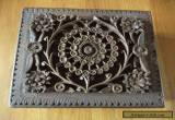 Vintage carved  wooden box for Sale