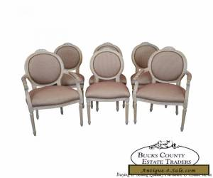 Quality Set of 6 French Louis XVI Style Dining Chairs for Sale