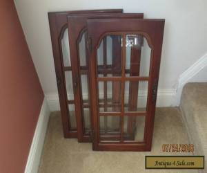 PRICE REDUCED!!! old antique vintage glass cherry wood cabinet door for Sale