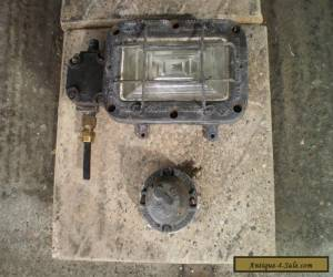 Vintage Walsall HEAVY industrial fireproof light and switch. for Sale