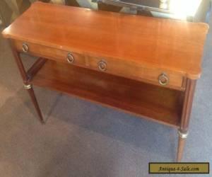 Vintage Baker Furniture Burled Walnut Wood Hollywood Regency Console Table for Sale