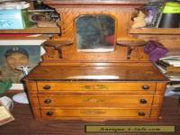 Antique 19th century Salesman's Sample 3 drawer Dresser with mirror Doll Toy VT