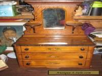 Antique 19th century Salesman's Sample 3 drawer Dresser with mirror Doll Toy VT