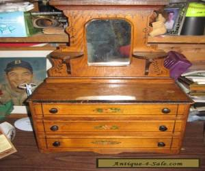 Antique 19th century Salesman's Sample 3 drawer Dresser with mirror Doll Toy VT for Sale