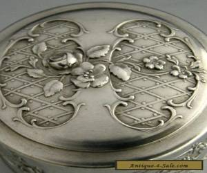 BEAUTIFUL FRENCH SILVER PILL BOX 1910 ANTIQUE for Sale