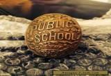 Antique Vintage Brass Public School City Of New York Door Knob C1890 for Sale
