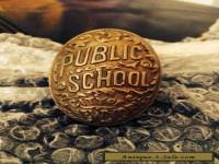 Antique Vintage Brass Public School City Of New York Door Knob C1890