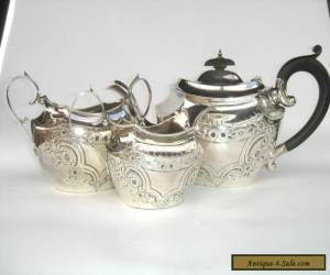 Simply Beautiful Antique Sterling Silver Tea Set for Sale