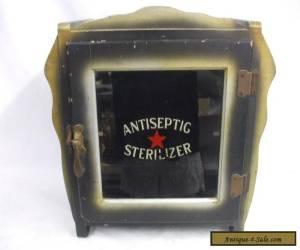 ANTIQUE BARBER DENTAL MEDICAL WOOD CABINET ANTISEPTIC STERILIZER 30'S for Sale