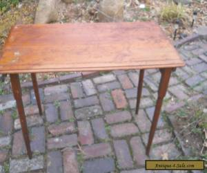 Antique/Vintage Wood Folding Sewing Table with Yard Measure for Sale