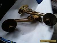 Pair of wall mounted candle holders brass circa 1900