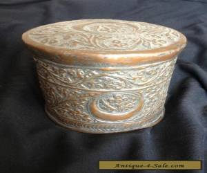 19th Century Lidded Tinned-Copper Islamic Container probably Turkish/Ottoman for Sale