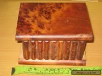 Vintage Small Mahogany Hinged   Box.