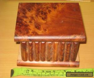 Vintage Small Mahogany Hinged   Box. for Sale