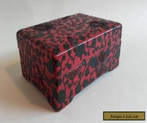 Antique 19thc Japanese Red Lacquer Carved Box  for Sale
