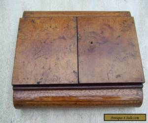 ANTIQUE ART DECO WOODEN BOX - LOVELY PATINA - HINGED DOUBLE OPENING for Sale