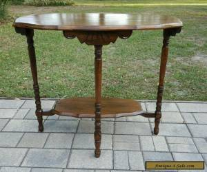 Antique VINTAGE Carved Oak side accent pier Table William Mary EASTLAKE for Sale