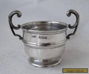 Antique Solid Sterling Silver 2-Handle Salt Pot 1904 for Sale