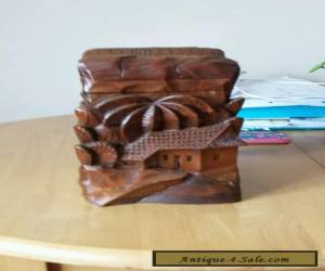 Carved wooden box for Sale