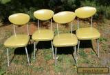 4 VINTAGE 1960s SHELBY WILLIAMS STYLE MID-CENTURY MODERN ALUMINUM GAZELLE CHAIRS for Sale