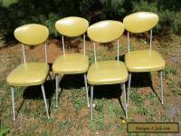 4 VINTAGE 1960s SHELBY WILLIAMS STYLE MID-CENTURY MODERN ALUMINUM GAZELLE CHAIRS