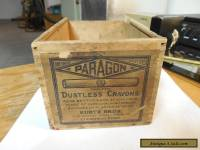 vintage crayon wooden box
