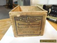vintage crayon wooden box
