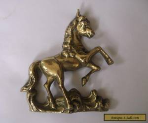 BRASS HORSE FROM THE TOP OF A VERY OLD WALL CLOCK  for Sale