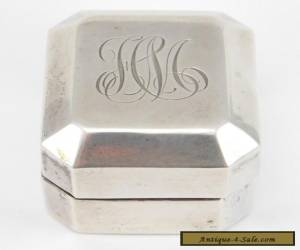 ANTIQUE STERLING SILVER DECO RING BOX BIRKS for Sale