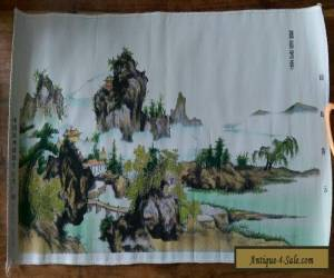 Vintage Chinese silk picture in original box for Sale