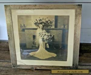 "LARGE Vintage Sterling Silver .925  ANTIQUE PICTURE PHOTO FRAME 14"" X 11""  for Sale"