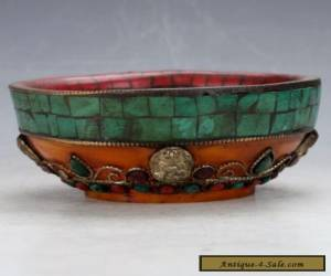 Chinese Hand-carved Turquoise bowl for Sale