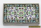 Beautiful Hand Hammered STERLING Silver & Enamel Trinket Box for Sale