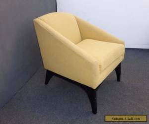 Vintage Danish Mid Century Modern Contemporary Style Light Yellow CLUB CHAIR  for Sale