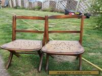Pair of antique children's wooden chairs