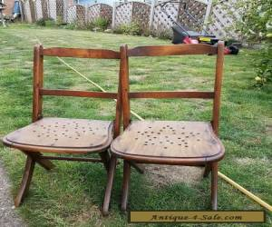 Pair of antique children's wooden chairs  for Sale