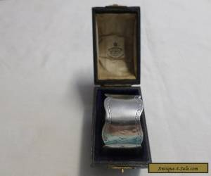 Antique Boxed Sterling Silver Napkin Ring William Cooper London 1901 for Sale