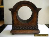 Nice Vintage / Antique Solid Oak Mantel Clock Case.
