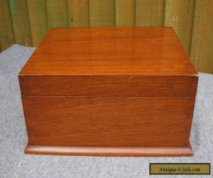 ANTIQUE/VINTAGE POLISHED MAHOGANY STATIONARY/WORK/SEWING BOX WITH LIFT OUT TRAY for Sale