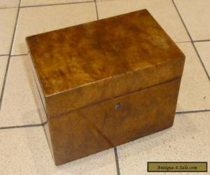 A Victorian Burr Walnut Box c1850 for Sale