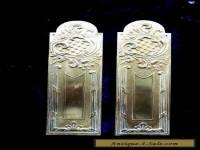 Pair vintage French brass fingerplates