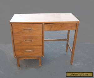 Vintage Danish Mid Century Modern Style Four Drawer Solid Wood WRITING DESK  for Sale