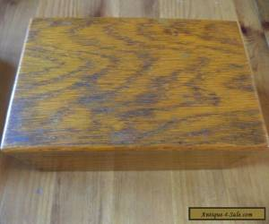 vintage   oak wooden box for Sale