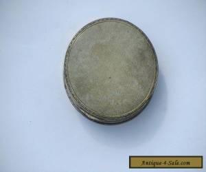 Vintage / Antique Round Hallmarked Silver Box for Sale