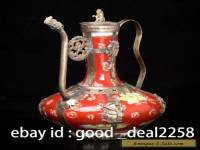 Rare Decorated Porcelain Armoured & flower Teapot & Monkeys Lid