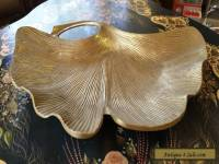 "VINTAGE ANTIQUE RARE SOLID HEAVY BRASS ""LEAF DISH TRAY-ASHTRAY-CENTREPIECE"""
