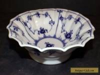 "Royal Copenhagen Blue Fluted Plain Scalloped 6.8"" Berry Bowl # 141 First Quality"