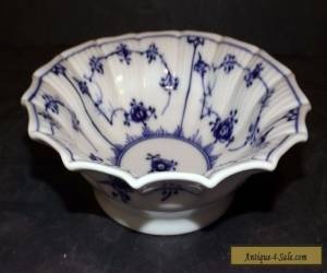 """Royal Copenhagen Blue Fluted Plain Scalloped 6.8"""" Berry Bowl # 141 First Quality for Sale"""