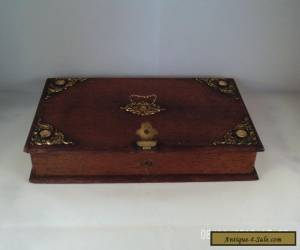 antique hinged wooden box for Sale